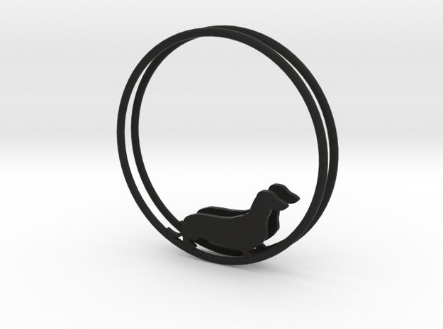 Dachshund Dog Hoop Earrings 40mm