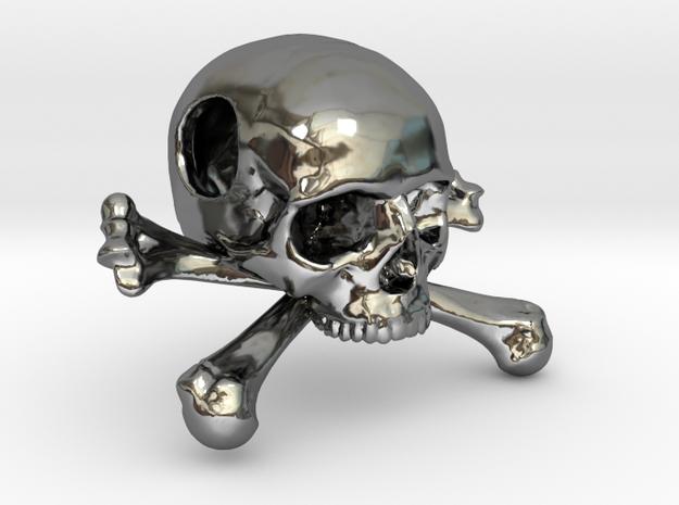 25mm 1in Bead Skull & Bones Pendant Crane