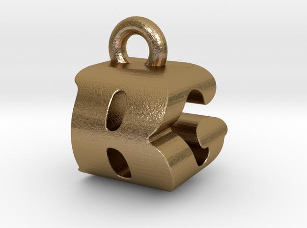 3D Monogram Pendant - BGF1 in Polished Gold Steel