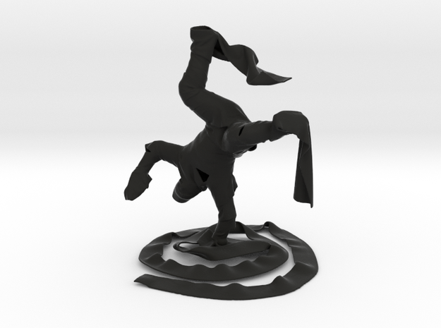 Breakdance Clothman in Black Natural Versatile Plastic