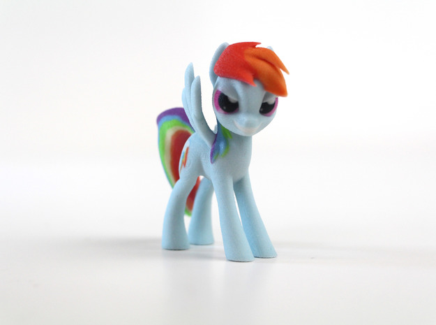 My Little Pony - Rainbow Dash (≈75mm tall) in Full Color Sandstone