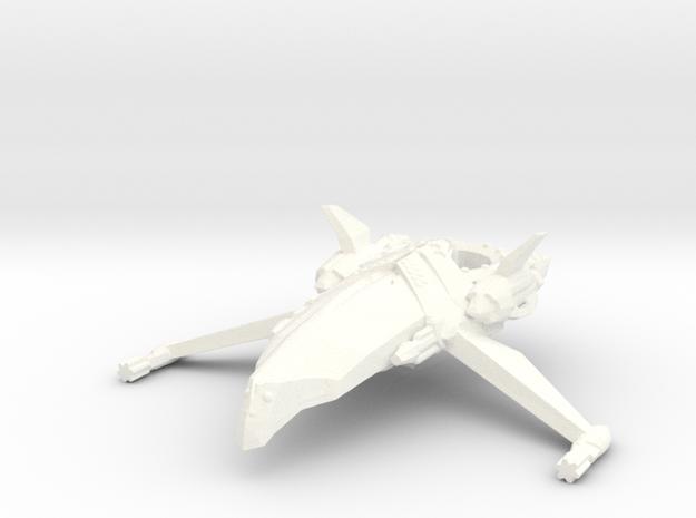 Zen Dazi - K'tesh Class Frigate in White Strong & Flexible Polished