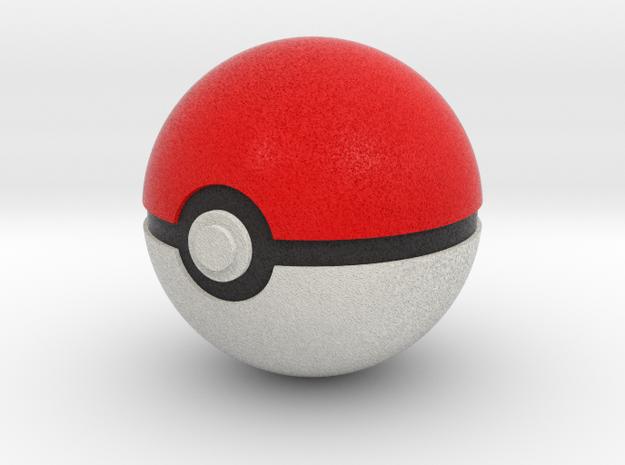 Pokeball 4cm in diameter. in Full Color Sandstone