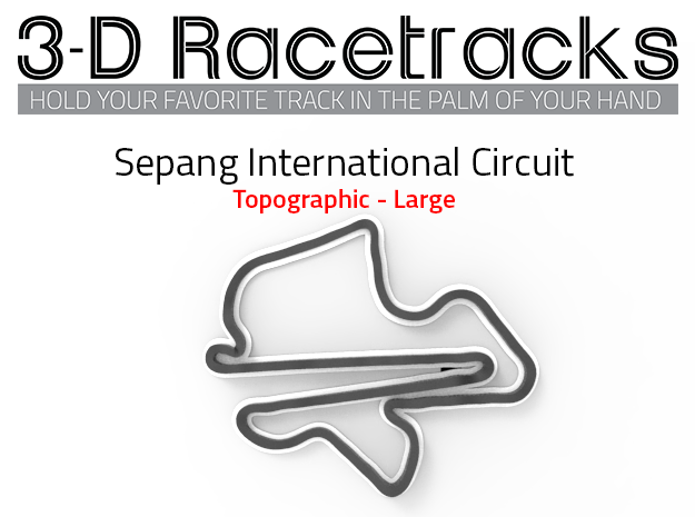 Sepang Circuit - Topogrpahic | Full in Full Color Sandstone