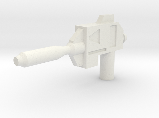 Lateral Sweep Laser Pistol in White Natural Versatile Plastic