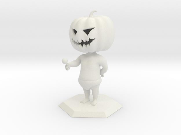 Jack O Lantern in White Natural Versatile Plastic