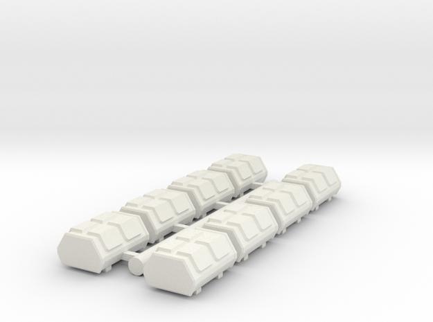 Cargo Pods 3 in White Natural Versatile Plastic