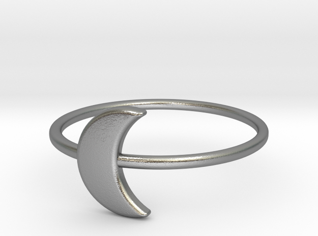 Moon Midi Ring 16mm inner diameter by CURIO in Natural Silver