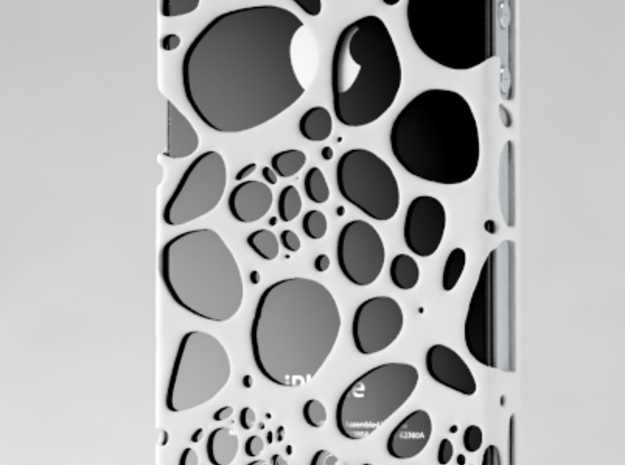 IPhone 4/4S - Cell Case 3d printed White Polyamide
