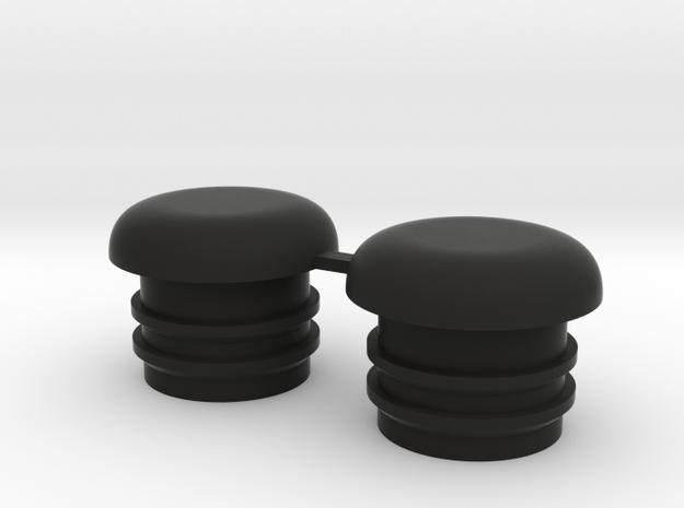 Bugaboo Front Wheel Caps in Black Natural Versatile Plastic