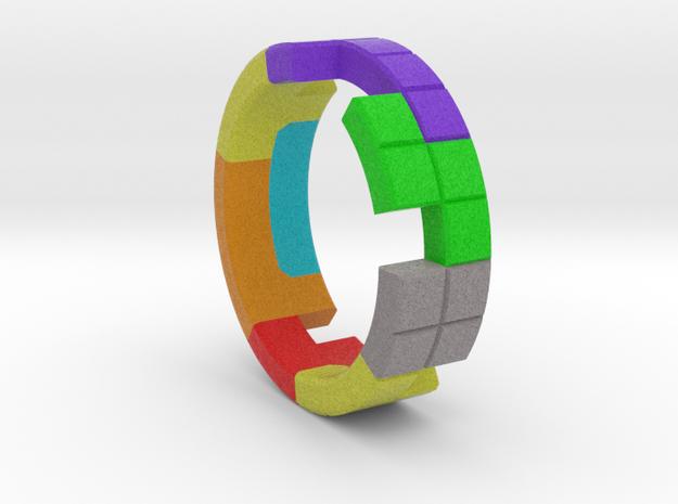 Tetris Ring Size 10 in Full Color Sandstone