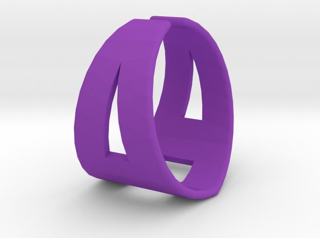 Ring21(18mm) in Purple Processed Versatile Plastic
