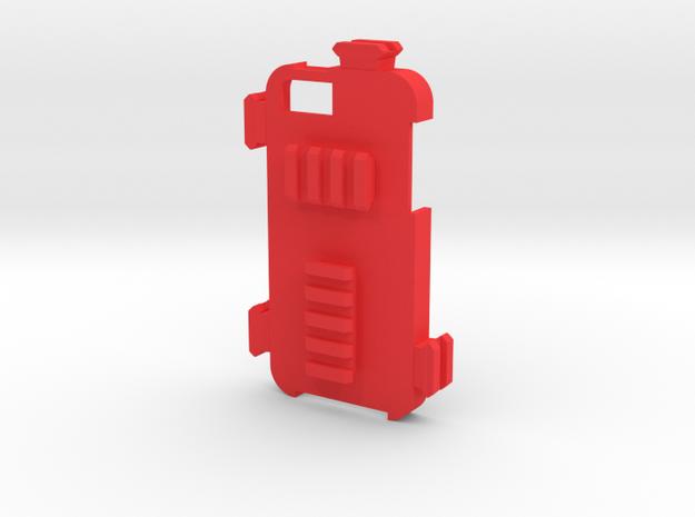 iPhone 5 Picatinny Case (All Rails) in Red Processed Versatile Plastic