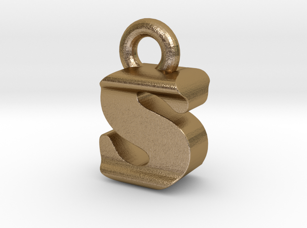 3D Monogram - SIF1 in Polished Gold Steel