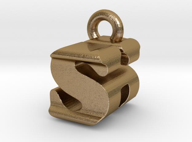3D Monogram - SHF1 in Polished Gold Steel