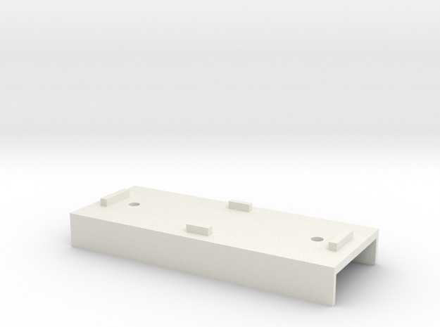 Base Carriage Europe #1 (n-scale) in White Natural Versatile Plastic