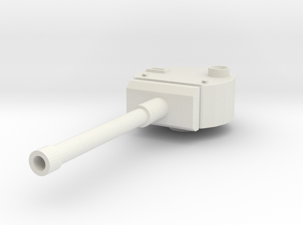 Turret, European #1  (n-scale) in White Natural Versatile Plastic