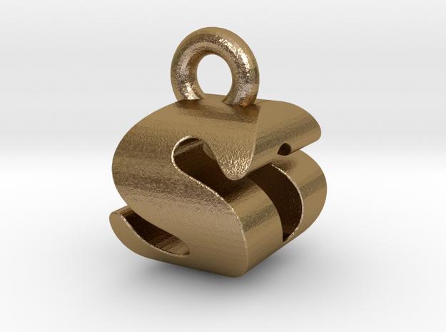 3D Monogram - SOF1 in Polished Gold Steel