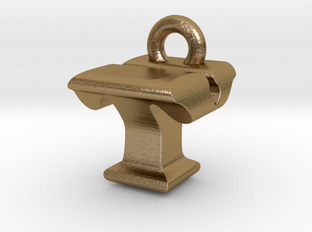 3D Monogram - TYF1 in Polished Gold Steel