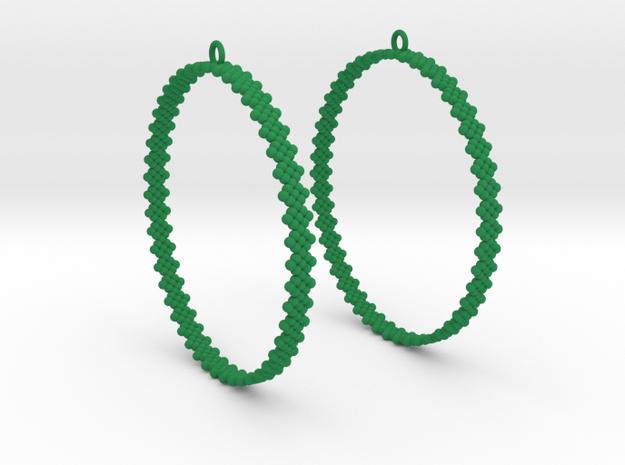Pearl Hoop Earrings 60mm in Green Processed Versatile Plastic