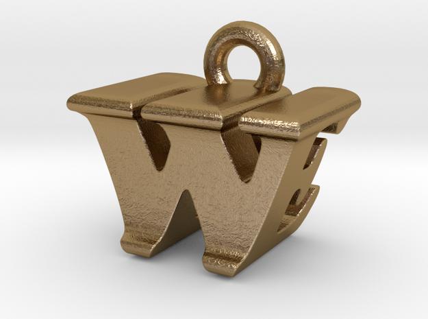 3D Monogram - WEF1 in Polished Gold Steel