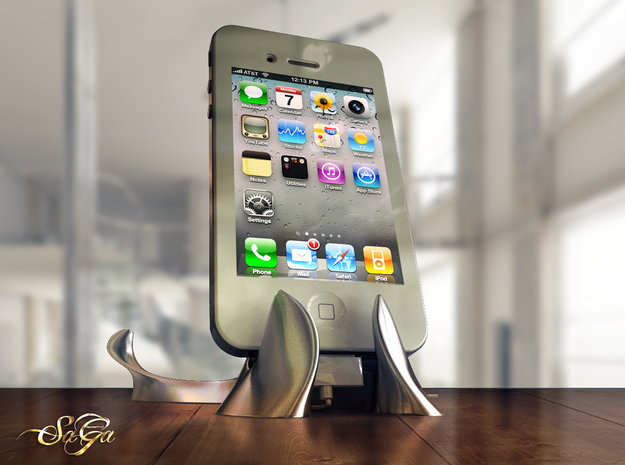 x-Stand 3d printed Also supports iPhone in both portrait and landscape mode.