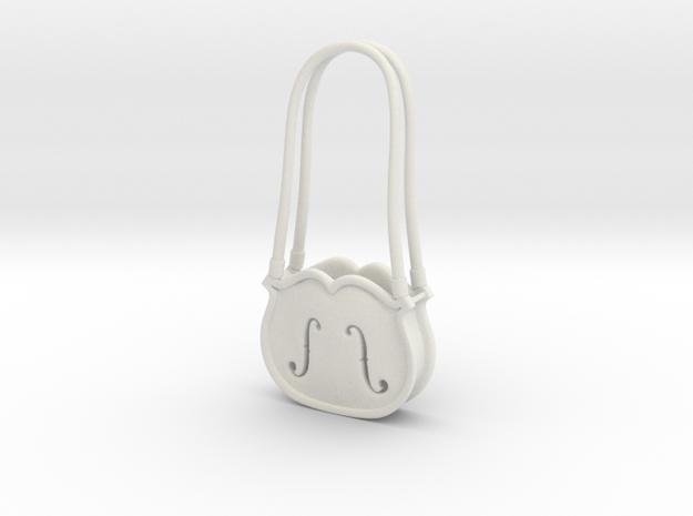 Doll purse Violina 1:6 in White Natural Versatile Plastic