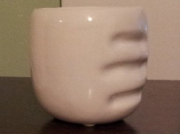 handy cup (lefty) 3d printed -Click to edit