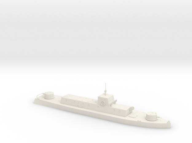 1/350th scale WW2 Hungarian armoured boat in White Strong & Flexible