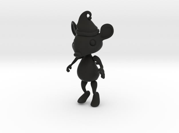 Tiny Christmas Mouse Ornament 3d printed
