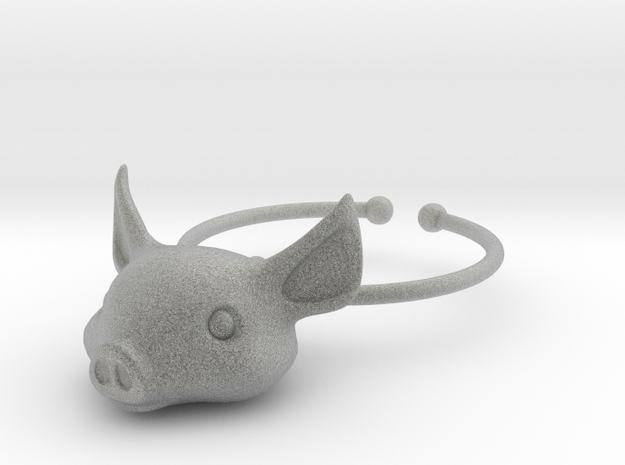 Little Pig Wine Glass Charm 3d printed