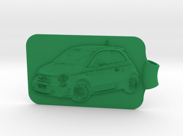 Fiat 500 Abarth Key Fob 3d printed