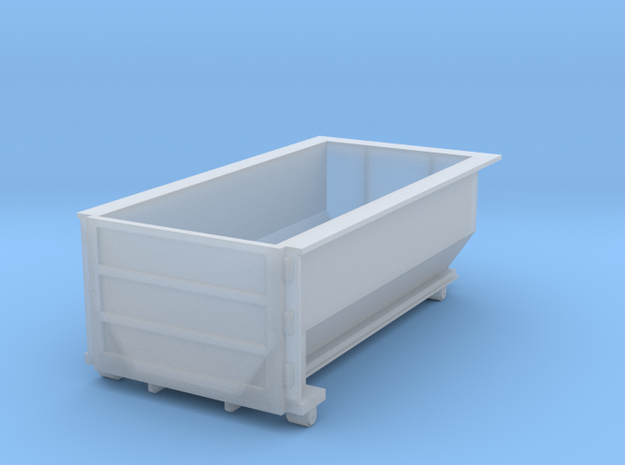 Rolloff Dumpster in HO in Smooth Fine Detail Plastic