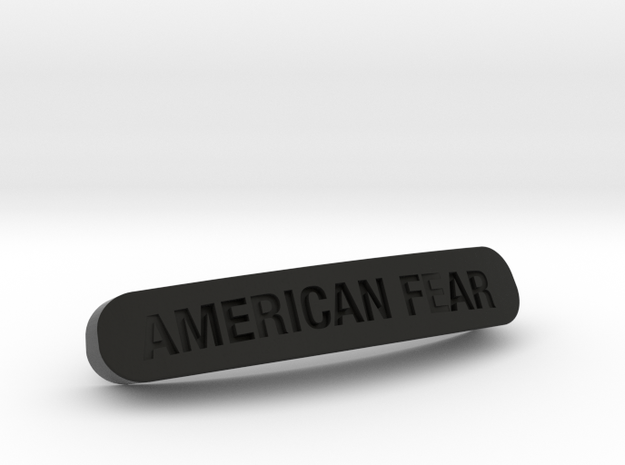 AMERICAN FEAR Nameplate for SteelSeries Rival in Black Natural Versatile Plastic