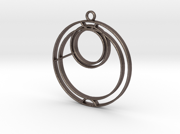 Anna - Necklace in Polished Bronzed Silver Steel