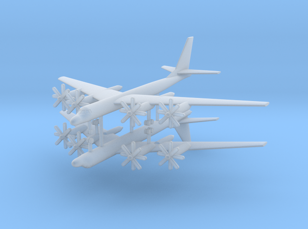 1/700 TU-95M (Bear A) Stragetic Bomber (x2) in Smooth Fine Detail Plastic