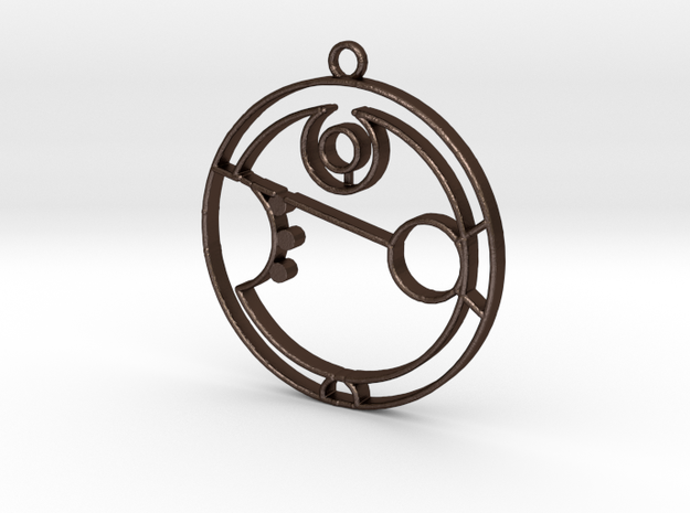 Amber - Necklace in Matte Bronze Steel
