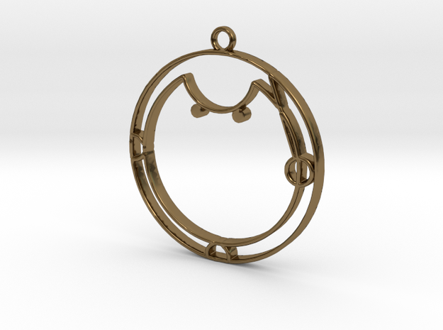 Aisha - Necklace in Polished Bronze