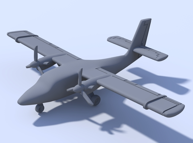 500 - Twin Otter - Solid in Smooth Fine Detail Plastic