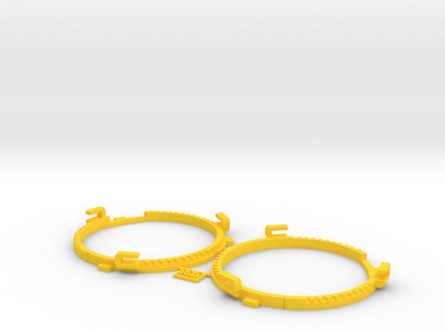 66.5mm Lens Separators   Oculus Rift DK2 in Yellow Processed Versatile Plastic