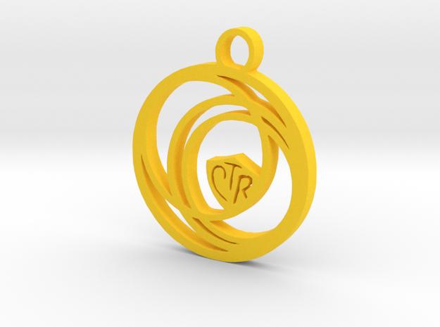 CIrcular CTR Pendant in Yellow Processed Versatile Plastic