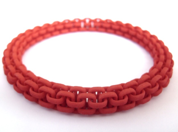 Scoobie Bracelet (New) in Red Processed Versatile Plastic