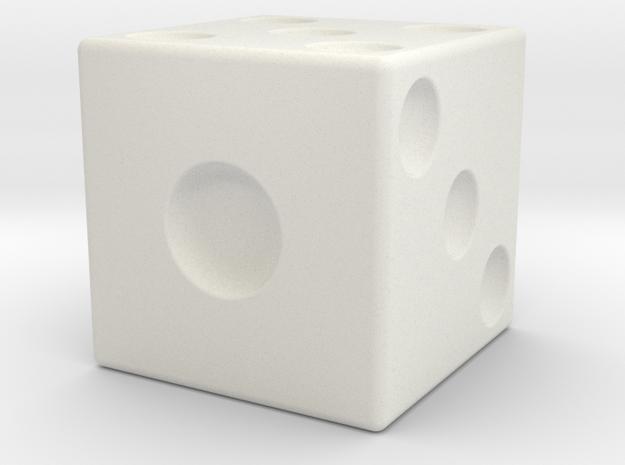 Giant Dice in White Natural Versatile Plastic