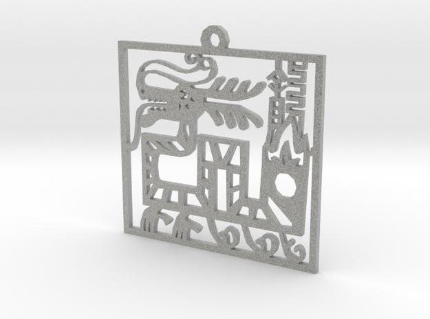 Dragon in Metallic Plastic