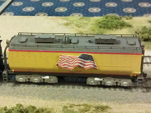 UP Water Tender HO Scale 1:87 Jim Adams  in Frosted Ultra Detail