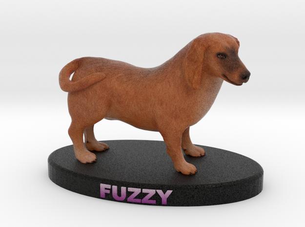 Custom Dog Figurine - Fuzzy 3d printed