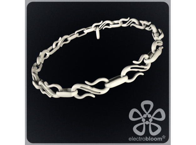 S Hook chain necklace. in White Strong & Flexible