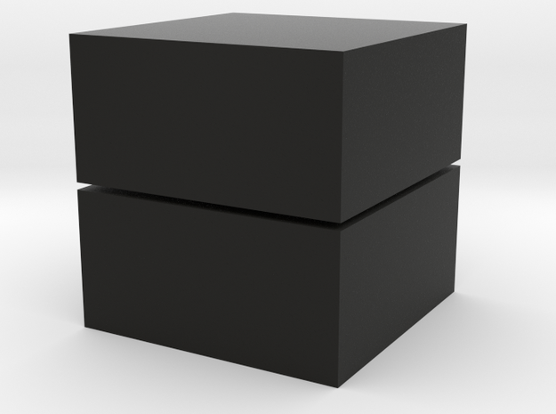 Cubic 1x1x2 3cm  in Black Strong & Flexible