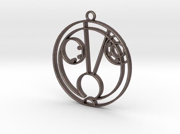 Hazel - Necklace in Polished Bronzed Silver Steel
