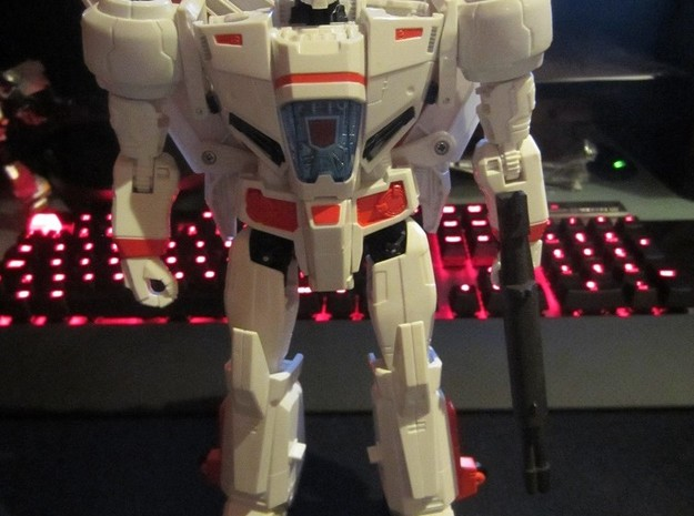 Gen. Skyfire G1 Cartoon Rifle in White Natural Versatile Plastic